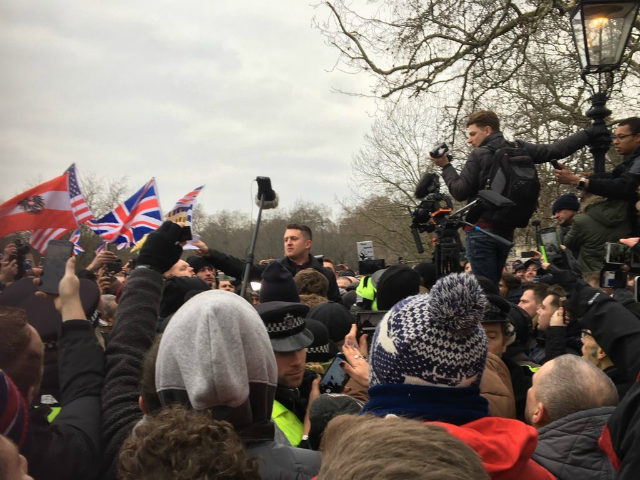 Freedom Of Speech Rally Outperforms The March Against 'Far Right Racists'