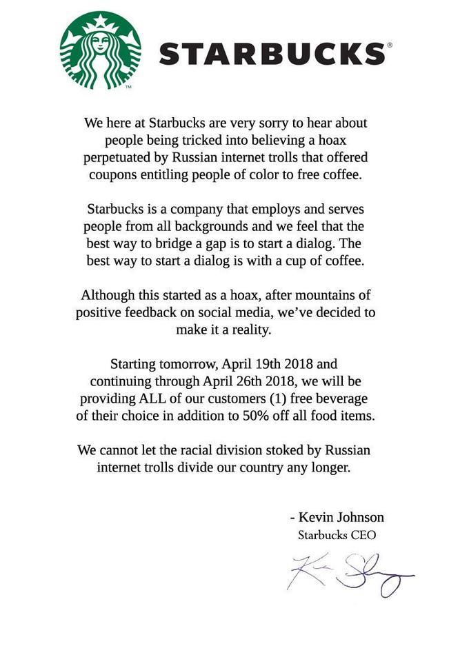 starbucks letter