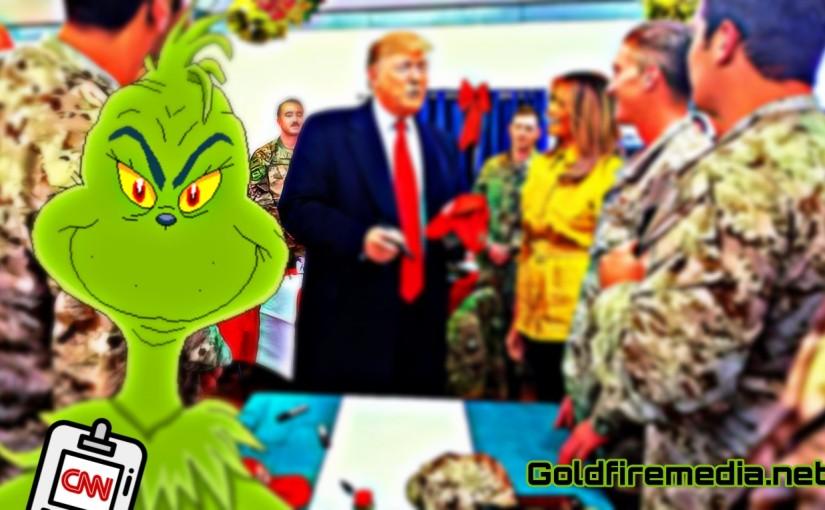 CNN harasses Troops for having MAGA Hats during Trump's Visit toIraq