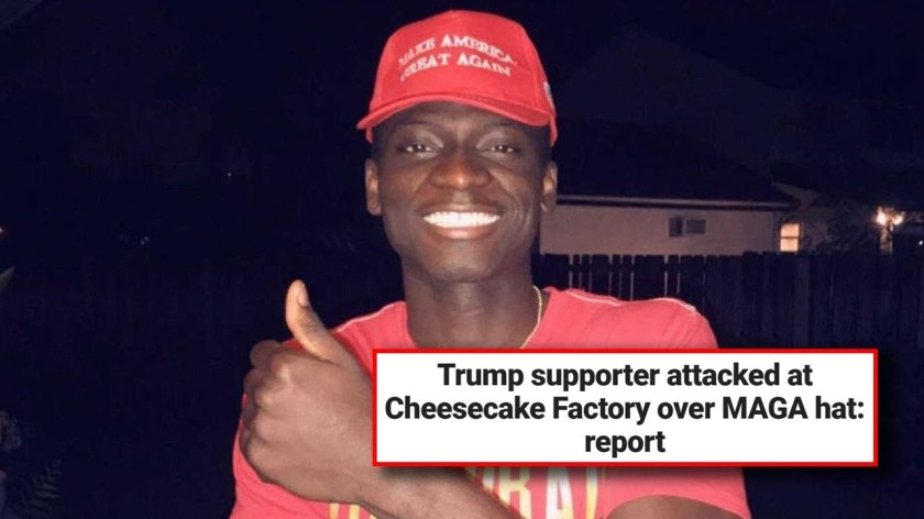b02c228f8ee Woman Assaults Man For Wearing MAGA Hat  23 year old Bryton Turner was  assaulted by a woman at a Mexican restaurant in Cape Cod
