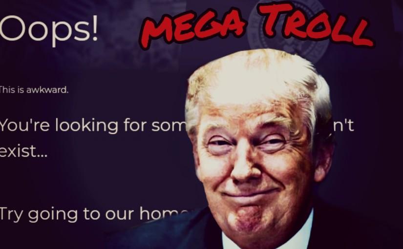 Trump trolls Hillary 'bigly' from hiswebsite