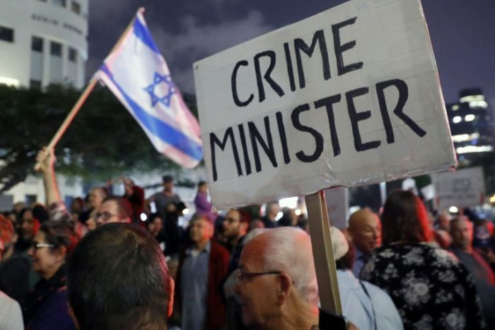 Protests regarding law that protects Israeli PM Benjamin Netanyahu from prosecution for corruption